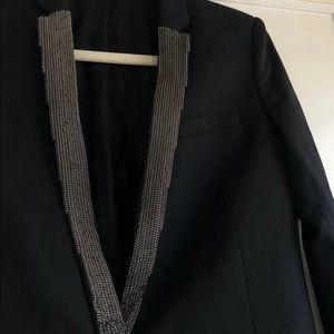 The Kooples Jackets & Coats - The Kooples Black Chain Blazer Jacket Size 36 XS S